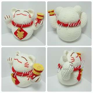 Fortune cat/ Maneki neko - Amigurumi/ crochet