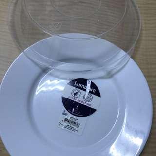 🚚 法國樂美雅純白強化玻璃餐具組(24*24cm)