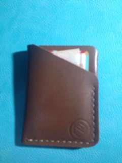 Minimalist leather card wallet - free shipping
