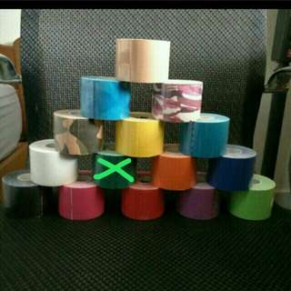 KT tape kinesiology sports camo nude black white navy blue red green pink orange yellow purple