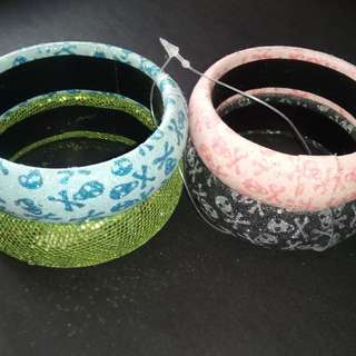 Bangles (blue, green, pink, black)