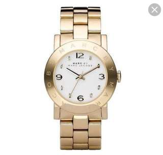 Marc Jacobs Amy Watch in Gold