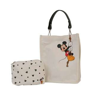 PO Disney Characters 2 Piece/2 Way Carry Bag