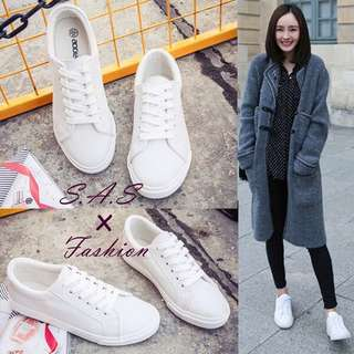 White Size 39 PU Waterproof Shoes Sneakers Loafers