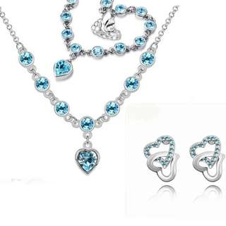 Romantic Bridal Set With Austrian Crystals (PRE-ORDER)
