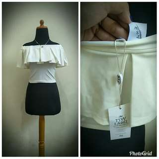 Crop white new with tag
