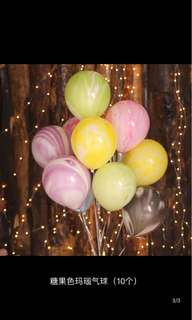 彩色瑪瑙氣球(10個1set)