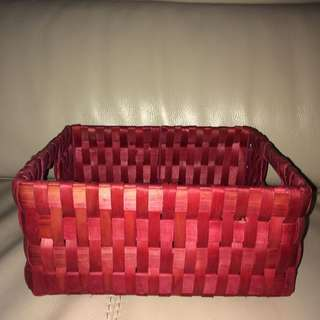 New rattan Easter Red Rectangle Basket