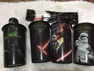Star wars 7-11 tumblers (sold as bundle)