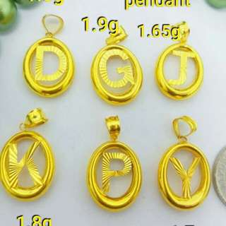 21k saudi gold pendant