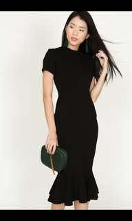 MDS Mermaid Bodycon Dress in Black