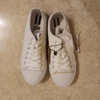 North Star White School Shoes