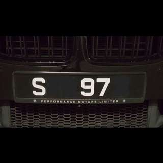 SJU 97 S Number Plate for sale