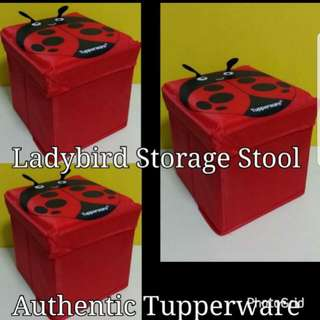 Authentic Tupperware  Ladybird Storage Stool Retail Price S$24.00 Now S$12.90/Piece box red
