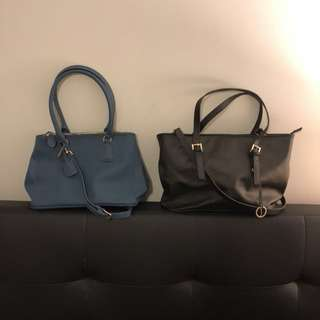 Genuine Leather Handbags x2