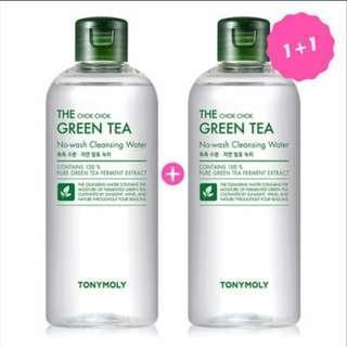 [PO] Tonymoly The Chok Chok Green Tea No-wash cleansing water 1+1 300ml