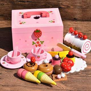 Afternoon Tea Cake Party Wooden Toys Set