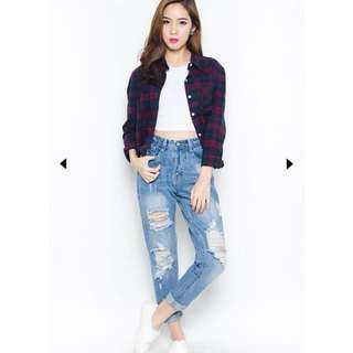NEW wardrobemess distressed-bf-jeans