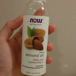 Trial size now foods sweet almond oil