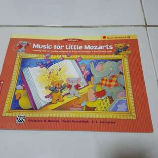 Alfred's music for little mozarts music workbook
