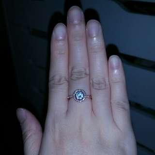 Fashion rose gold diamond ring