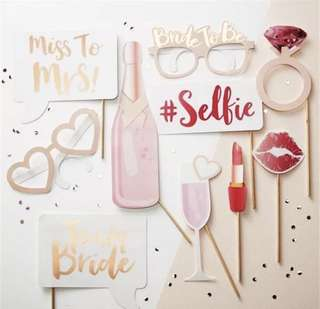 Bridal Shower / Hens Night Photobooth Props