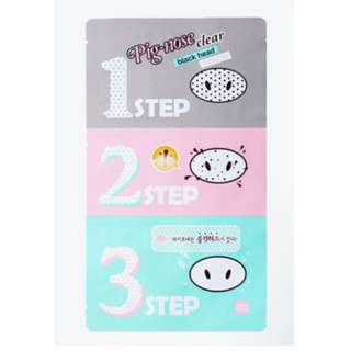 Holika Holika Pig-Nose Clear Black Head 3-Step Kit Nose Pore Strip (100% Auth from Korea)