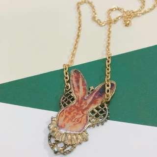 🇯🇵古董復古兔仔頸鏈 Vintage Bunny necklace