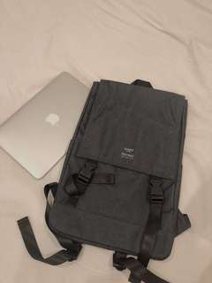 Anello Flap-Backpack (Navy Blue)