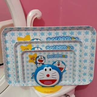 Nampan doraemon 1 set 3 pcs
