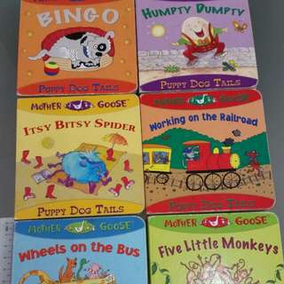 6 pcs Children Books Early Learners rhymes