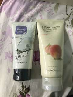 Face cleanser and exfoliator