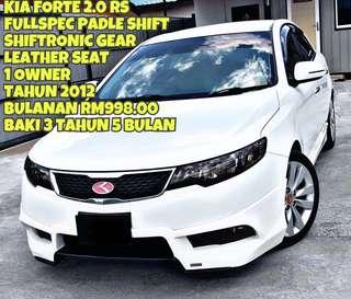 KIA FORTE 2.0 RS SAMBUNG BAYAR