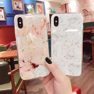 iPhone case大理石金箔全包邊手機軟殼 iPhone X/ 8/ 8+/ 7/ 7+/ 6/ 6s/ 6+