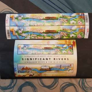 Singapore river stamps.