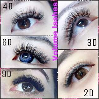 Eyelash Extensions from 1D -9D