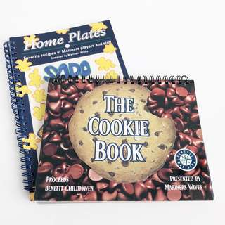 2x Recipe Books by Seattle Mariners for Charity