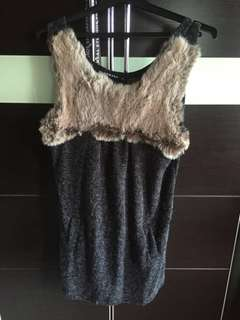 Club Marc fur grey dress/ top