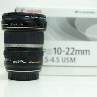Canon EF-S 10-22mm f/3.5-4.5 USM Autofocus Zoom Lens