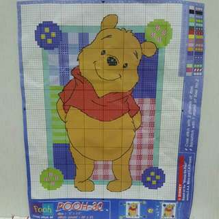 FREE NM📬Disney Winnie The Pooh Cross Stitch Diagram Guide