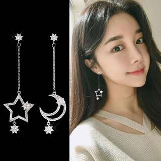 Korea Star Dangling Earrings