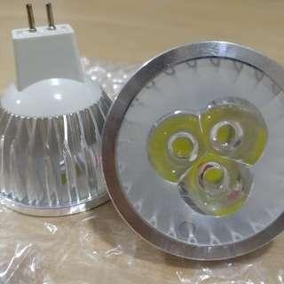 3W MR16圓頭 LED射燈 220v 正白光