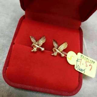 18k saudi yellow gold earrings