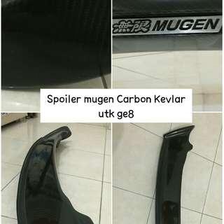 Spoiler Mugen Carbon Kevlar ge8 dan Grill JS Racing Carbon ge8