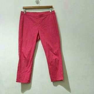 Uniqlo long pants pink red(XL)