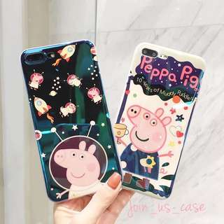 Peppa pig 小豬佩奇亮藍光手機殼