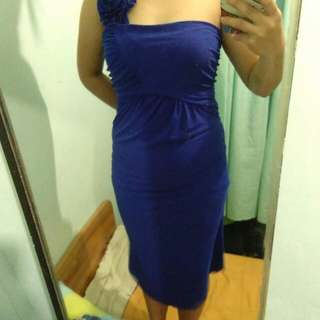 Royal Blue w/chiffon dress