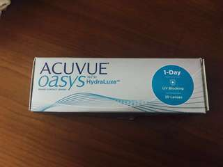 *Brand New* Acuvue Oasys with Hyraluxe 30 lens Daily use