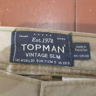 TOPMAN Vintage Slim Jeans Size 28