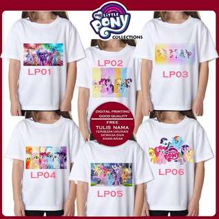 Kaos Digital Print edisi LITTLE PONY